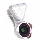 OJADE-3-in-1-Clip-on-LED-Selfie-Fill-Light-4K-HD-Wide-angle-Macro-Lens-Filter-Silver