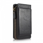 Measy-Fashionable-PU-Leather-Wallet-Case-with-Zippered-Bag-for-Samsung-Galaxy-S9-Plus-Black