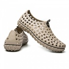 2255 Summer Men's Hollow Out Massage Sandals Shoes - Khaki (Size 44)