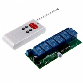 DC-12V-6-Channel-Wireless-Remote-Control-Switch-Module-with-Remote-Green-2b-Black-2b-White