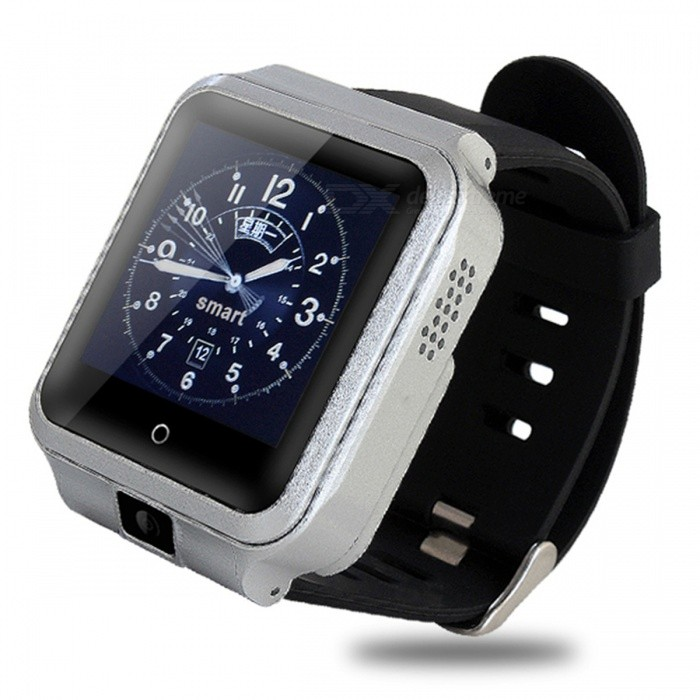 "M13 1.54"" Touch Screen Android 6.0 Smart Watch with 1GB RAM, 8GB ROM, Wi-Fi, GPS - Silver"
