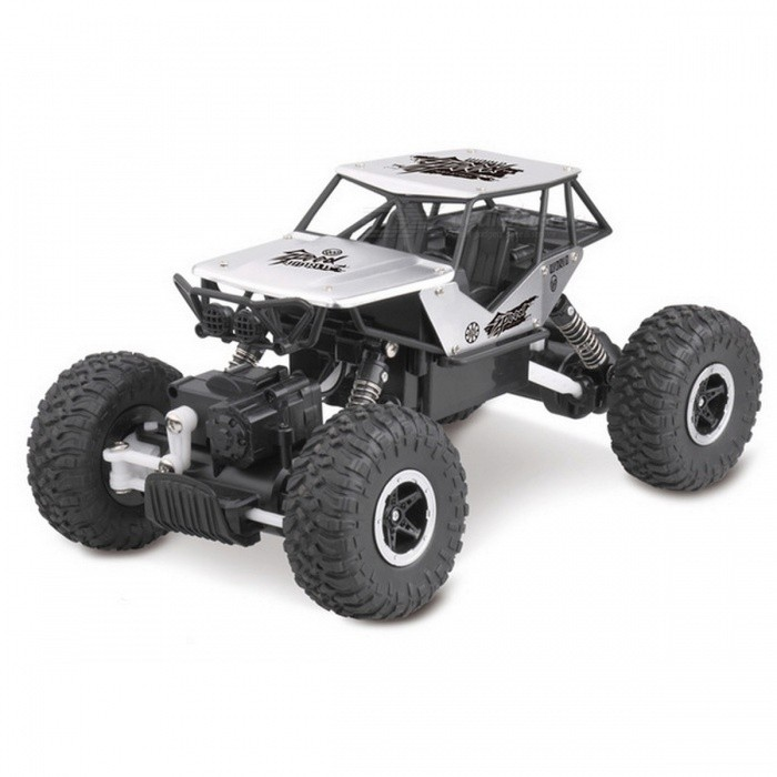 Buy Electric RC Car 1:18 4DW 2.4GHz Metal Rock Crawlers Rally Climbing Car - Silver with Litecoins with Free Shipping on Gipsybee.com