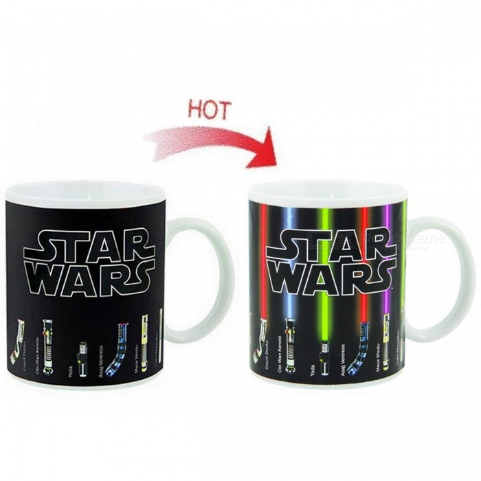 330ML Star Wars Lightsaber Heat Reveal Sensitive Morphing Mug for sale in Bitcoin, Litecoin, Ethereum, Bitcoin Cash with the best price and Free Shipping on Gipsybee.com