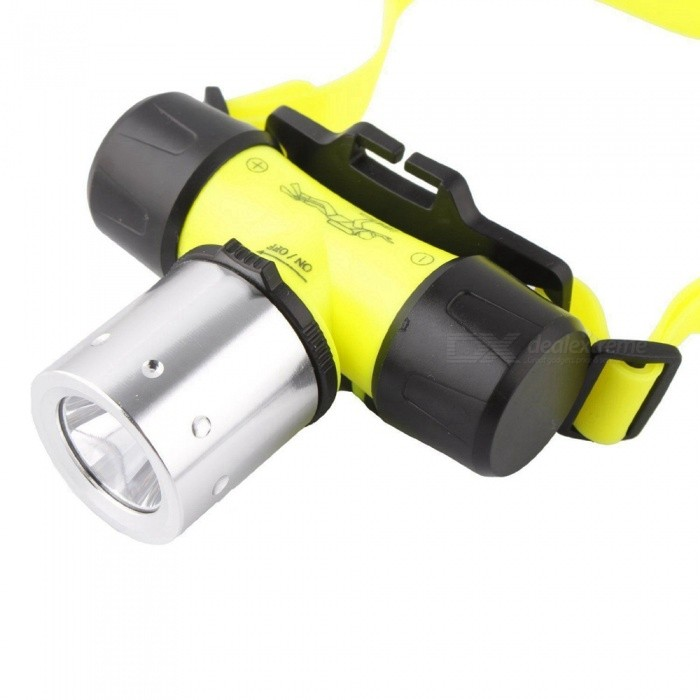 SPO Mini Rechargeable Waterproof 18650 Battery Powered Diving Headlamp