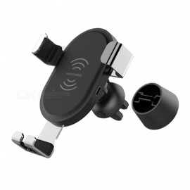 Multi-function-Car-QI-Wireless-Charger-Mobile-Phone-Mount-Holder-Stand-Black
