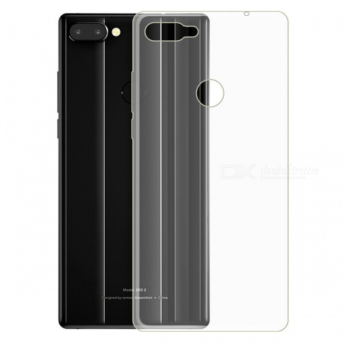 Transparent TPU Phone Back Case Cover for Vernee Mix 2 - Transparent