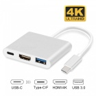 Measy-USB-Type-C-Male-to-HDMI-4K-USB-30-USB-Type-C-Female-Power-Adapter-for-Macbook-Pro-Silver