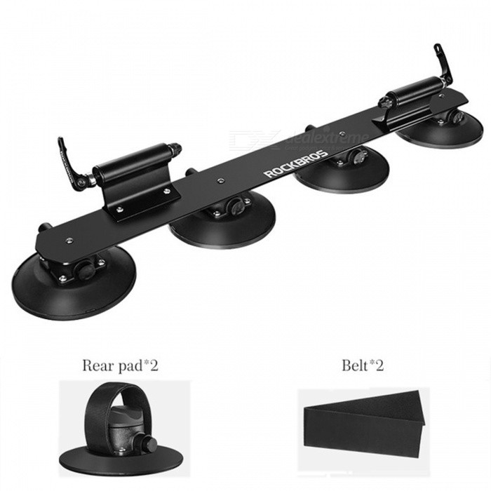 ROCKBROS Roof-Top Suction Bike Bicycle Car Rack Carrier, Quick Installation Sucker Roof Rack
