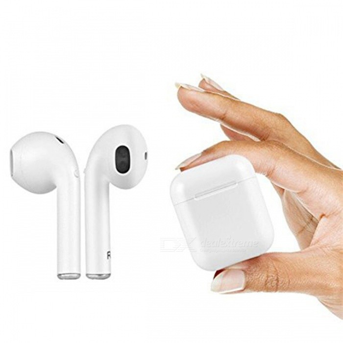 i8X TWS Wireless Stereo Bluetooth Earpod Earphone Headset With Noise Canceling, Mic for IPHONE X - White