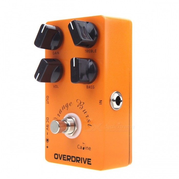Caline CP-18 OD Guitar Pedal Overdrive Guitar Effect Pedal True Bypass Orange Burst