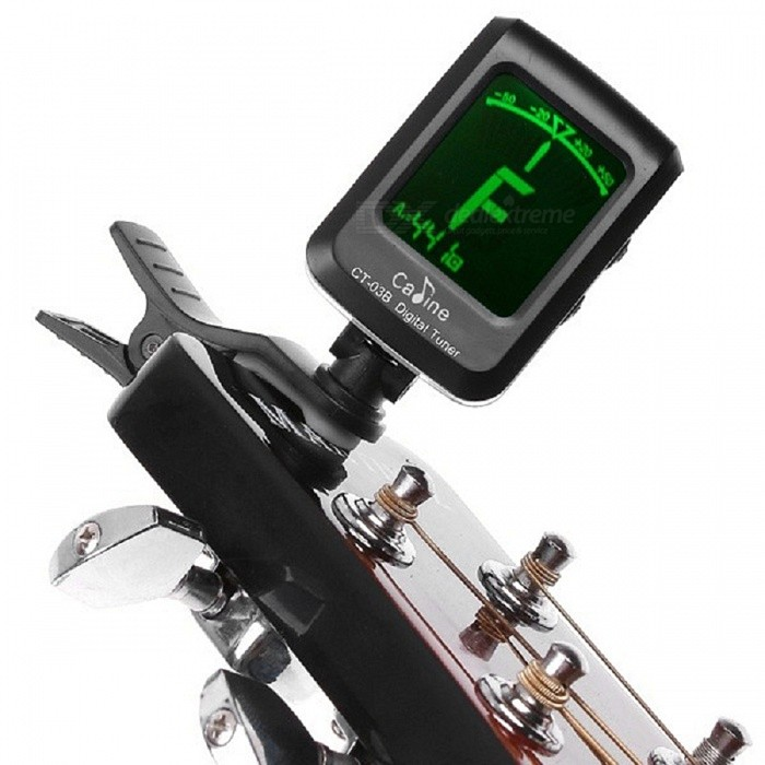 Buy Caline CT-03B LCD Clip-on Electronic Digital Guitar Chromatic Bass Violin Ukulele Tuner with Litecoins with Free Shipping on Gipsybee.com