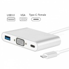 Measy-USB-Type-C-Hub-to-VGA-USB30-Splitter-USB-31-Type-C-VGA-Adapter-for-Macbook-Pro-Google-ChromeBook-Silver