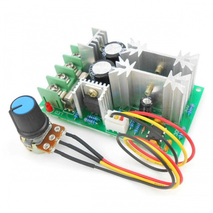 Buy ESAMACT DC Motor Speed Regulator 12V 24V 36V 48V High Power Drive Module PWM Motor Speed Controller with Litecoins with Free Shipping on Gipsybee.com