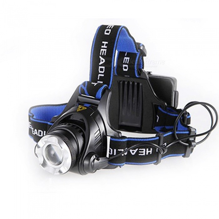 ZHAOYAO XM-L T6 1000LM LED Headlight Rechargeable Headlamp for Camping Hunting Fishing