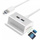 Measy-3-Ports-USB-30-2b-Micro-USB-OTG-Hub-Multi-Splitter-with-SD-TF-Slot-Holder-1m-Cable-for-Macbook-PC-Laptop-Phone-Silver