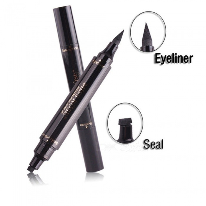 MISS ROSE Makeup Liquid Eyeliner Pencil Quick Dry Waterproof Wing Eye Liner With Miss Stamp Eye Pencil