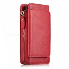 Measy-Fashionable-PU-Leather-Wallet-Case-with-Zipper-Bag-for-Samsung-Galaxy-S8-Red