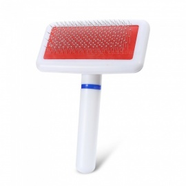 Airbag Type Plastic Needle Comb with Protection Point for Pet - White