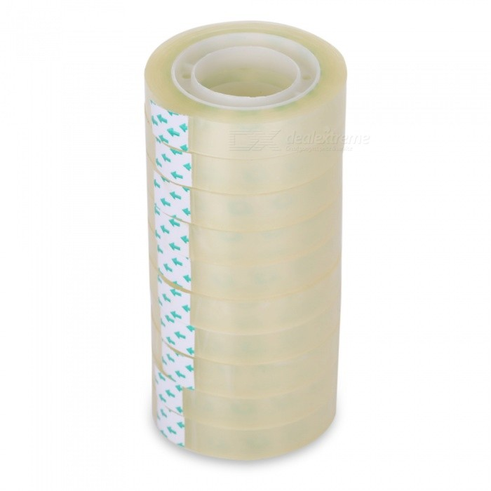 27 Meters Stationery Sticky Tapes - Translucent (10PCS)