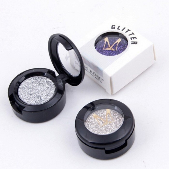 Miss Rose  24 Colors Glitter Single Eyeshadow Diamond Rainbow Make Up Cosmetic Pressed Glitter Eye Shadow Palette