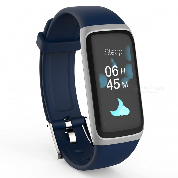 Amy Smart Bracelet Touch Color Screen Sports Wrist Watch Heart Rate Blood Pressure Monitoring - Blue