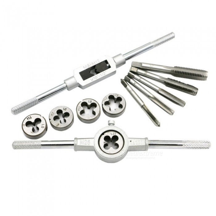 Tap-and-Die-Set-Hardware-Tools-Hand-Tap-And-Wrench-Die-Wringer-Metric-Taps-Set-12PCS
