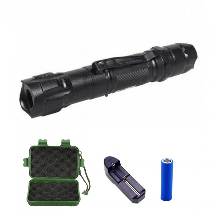 ZHAOYAO Aluminum Alloy Housing High Power 532nm Green Laser Pointer + Battery + Charger
