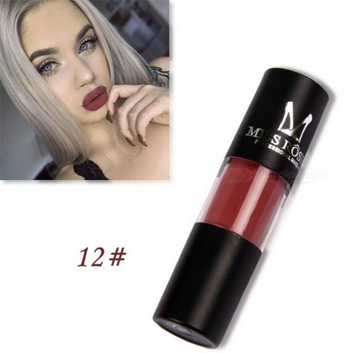 MISS ROSE Matte Lipstick Makeup Lip Gloss Waterproof Moisturizer Liquid Lipstick Nutritious Cosmetic Matte Lip Gloss