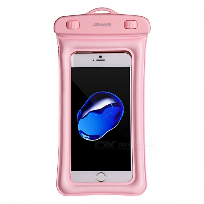 Buy USAMS Floatable Waterproof Bag Case Pouch for Smart Phones - Pink with Litecoins with Free Shipping on Gipsybee.com