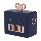 Emie-307-Robot-Style-3W-Mini-Wireless-Bluetooth-V30-Stereo-Speaker-with-Micro-USB-Hands-Free-Blue