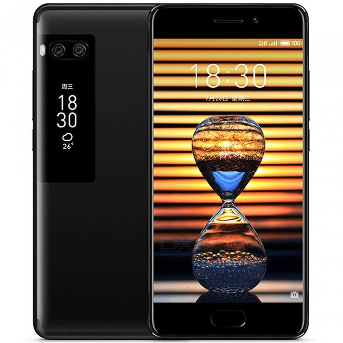 Meizu PRO 7 MTK Helio P25 Dual Display 5.2quot Phone w/ 4GB RAM, 64GB ROM - Black