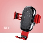 Baseus-10W-QI-Wireless-Fast-Charge-Charger-Car-Mount-Holder-for-IPHONE-X-Plus-Samsung-S8-S9-Red