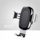 Baseus-10W-QI-Wireless-Fast-Charge-Charger-Car-Mount-Holder-for-IPHONE-X-Plus-Samsung-S8-S9-Silver