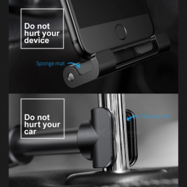 Baseus Backseat Car Holder Adjustable Cell Phone Stand Car Mount Bracket for IPHONE 8 X Samsung S8 IPAD Tablet PC