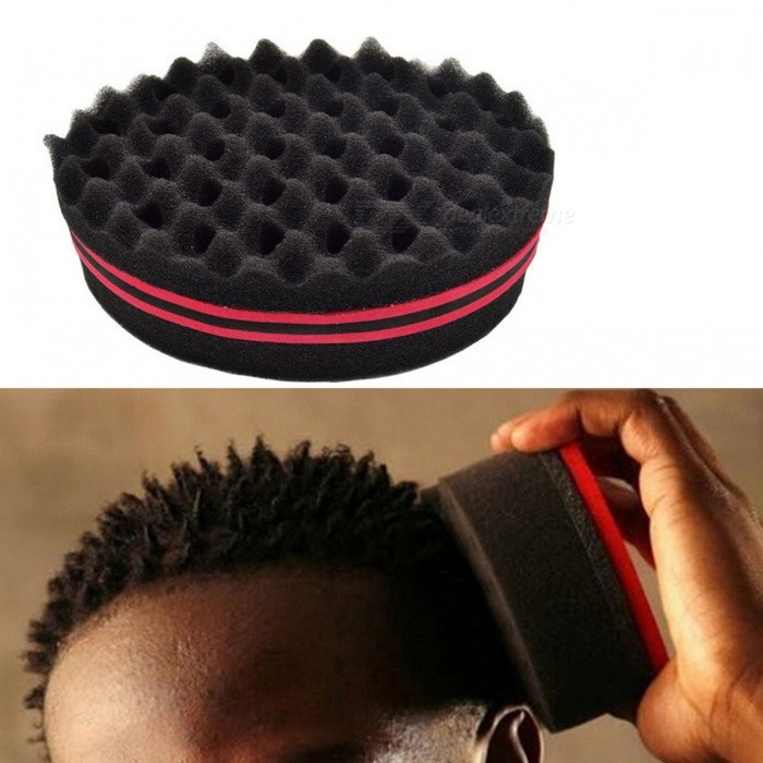 Buy Magic Dual Side Brush Sponge for Curly Weave Dreads Twist Natural Hair Making Tool - Black with Litecoins with Free Shipping on Gipsybee.com