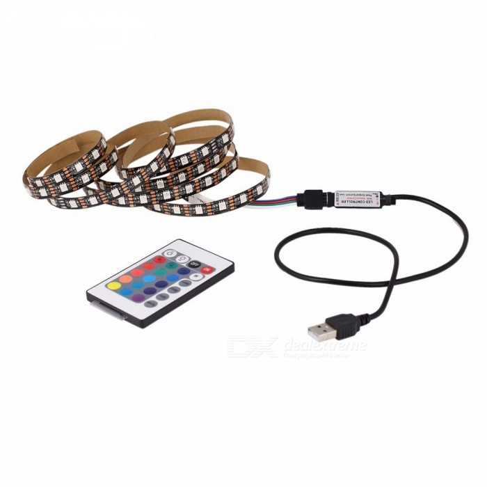 DC 5V 3W USB RGB 30-5050 LED Strip Light for TV Background Lighting with Self-Adhesive Tape