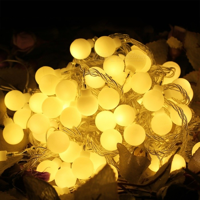 White Balls 220v 24W 100-LED Christmas Party Holiday Decorative String Light