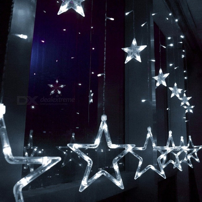 AC-220V-EU-Plug-2M-8W-Romantic-Fairy-Star-Style-LED-String-Light-Cold-White-for-Curtain-Holiday-Wedding-Party-Decoration