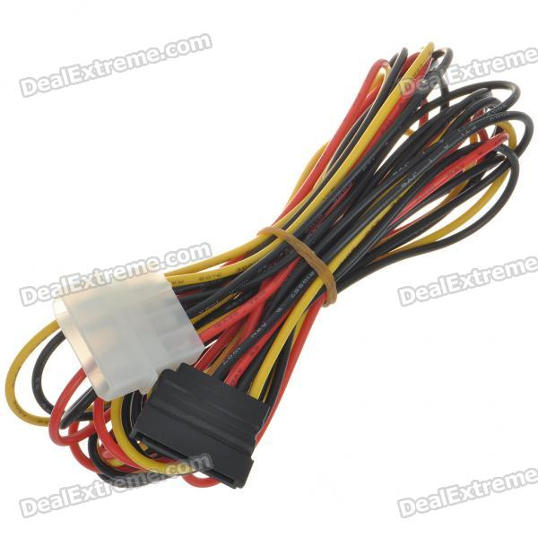 IDE 4-Pin Male to SATA 15-Pin Female Power Converter Cable (1.5M-Length)