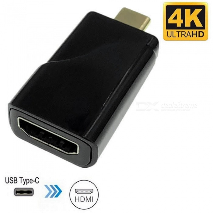 Cwxuan USB 3.1 Type-C Male to HDMI Female 4K HD Converter Adapter