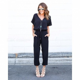 Womens-Fashion-Sexy-V-Neck-Strappy-Jumpsuit-Clothing-Clothes
