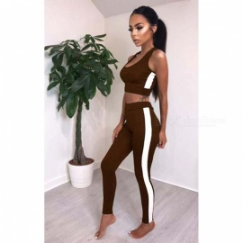 Womens-Sports-Vest-Sleeveless-Top-2b-Trousers-Pants-Clothes-Clothing-Set-Sportswear