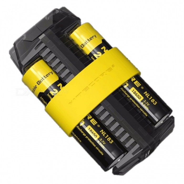 Nitecore F2 Flexible 2 Slots Battery Charger, Power Bank - Black