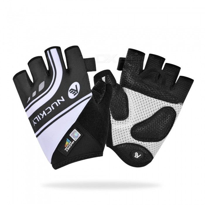 Buy NUCKILY PC05 Summer Highway Cycling Half-Finger Gloves Bicycle Mountain Bike Equipment - Black (S) with Litecoins with Free Shipping on Gipsybee.com