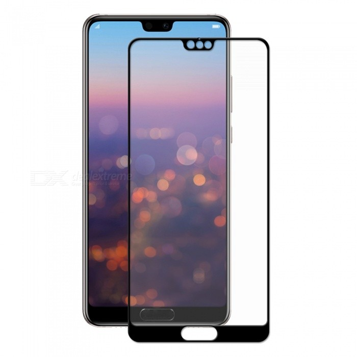Hat-Prince Full Coverage Tempered Glass Film Protector for Huawei P20 Pro - Black