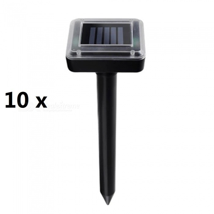 ZHAOYAO 10PCS Solar Powered Ultrasonic Mole Snake Bird Mosquito Mouse Pest Repeller with Control for Garden, Yard, Rice Field