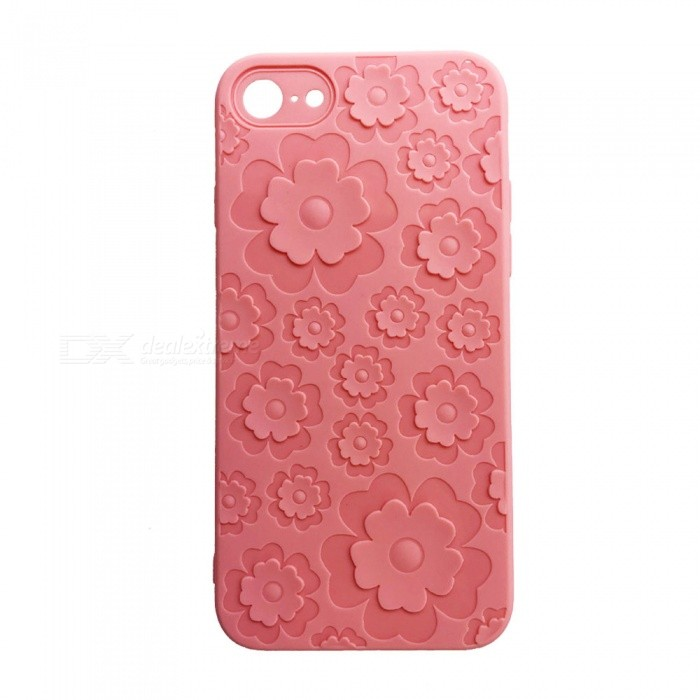 Flower Style Slim Soft TPU Case Cover for IPHONE 6/6S - Pink