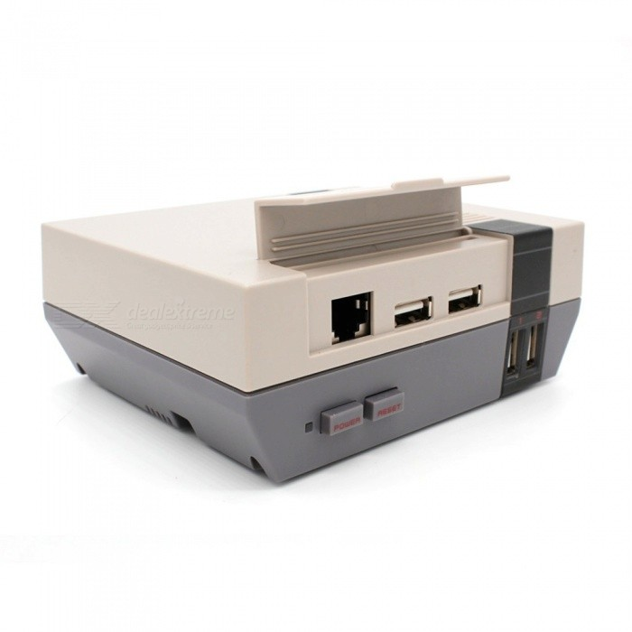 Enhanced-Mini-Retro-Style-NESPi-Case-for-Raspberry-Pi-3-2-Model-B-Grey