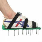 Lawn-Garden-Cultivator-Spike-Bottom-Sandals-Shoes-With-Metal-Buttons-Funny-Garden-Tool-Green