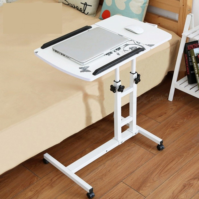 Foldable Adjustable Portable Rotary Laptop Bed Table Desk - White